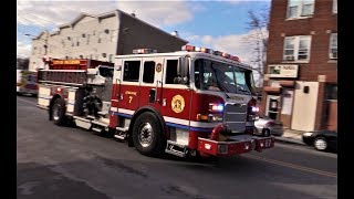 Paterson NJ Fire Department Battalion 3 and Engine 7 Responding on Grand St to Mill St Dec 11th 2017