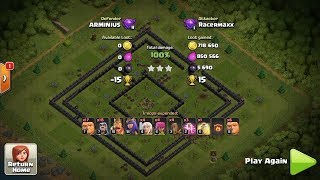 Clash of Clans TH10 GiWiHe Best Looting Attack (Giant + Wizard + Healer)