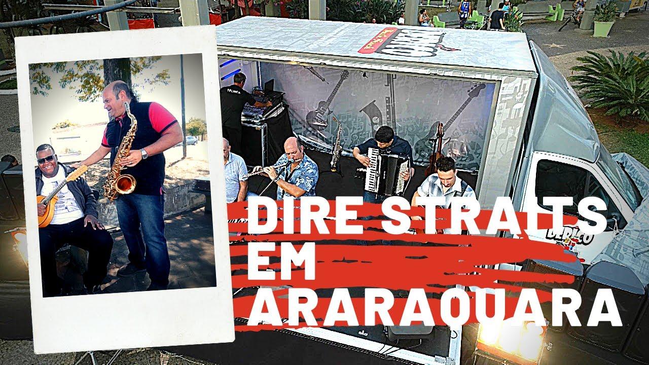 Derico toca Dire Straits para o público do Musick Truck em Araraquara-SP