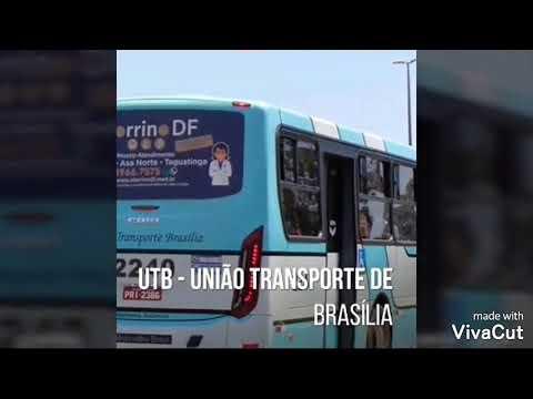 Antes e depois de alguns ônibus da transporte novo gama
