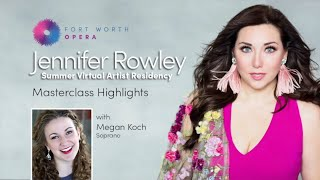 Highlights: FWO Virtual Masterclass Series with Megan Koch, Soprano.