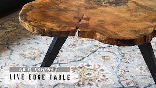 DIY Live Edge Coffee Table   How To Turn A Slab Into A Table