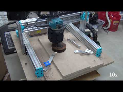 Wood engraving with DIY CNC router