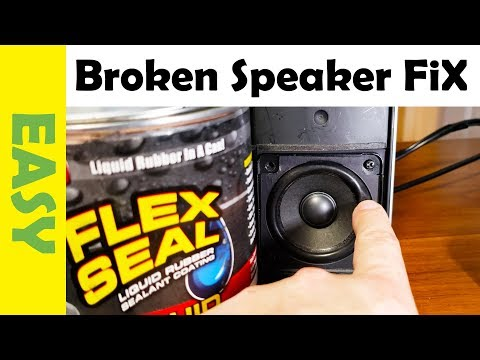 how-to-repair-blown-speaker-using-flex-seal-|-fix-popping-sound