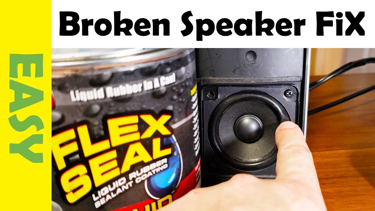 How to Repair Blown Speaker Using Flex Seal | Fix Popping Sound