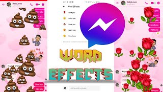 FACEBOOK MESSENGER WORD EFFECTS NEW UPDATES TUTORIAL 2021 FOR #IOS #IPHONE AND #ANDROID AND #PC screenshot 3