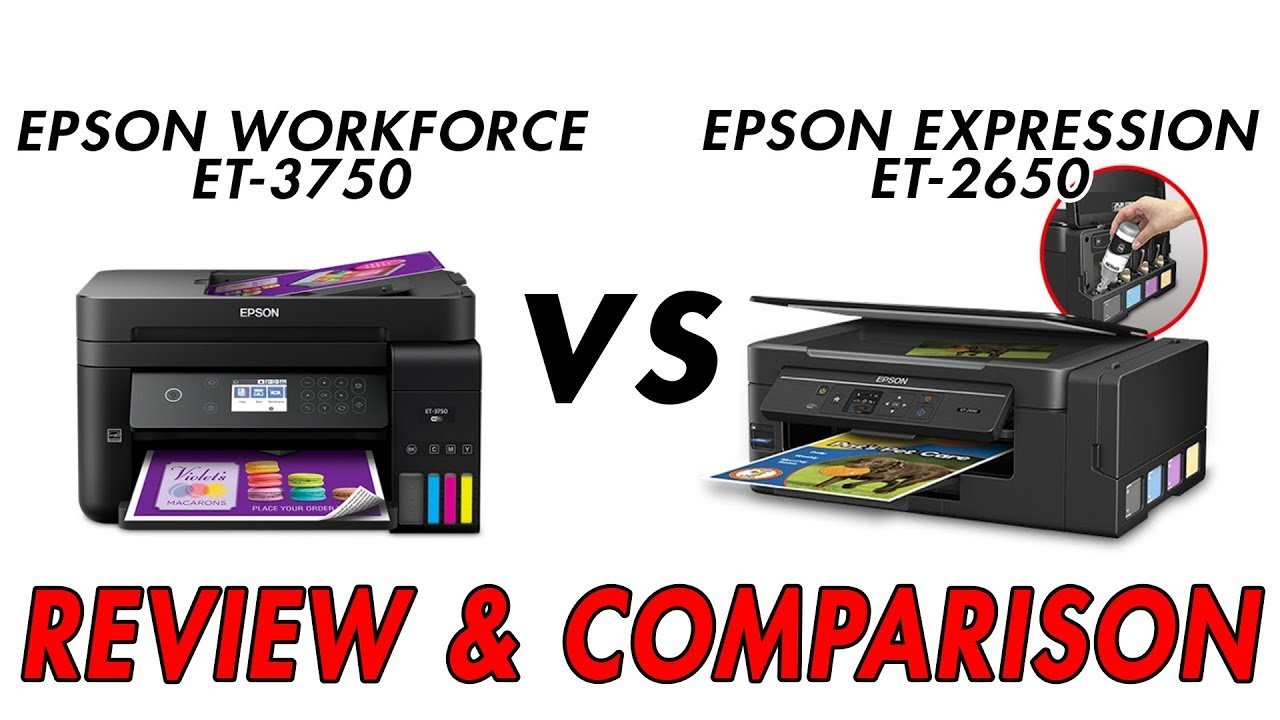 EPSON EcoTank ET 3750 vs EPSON EcoTank ET 2650 - Review & Comparison