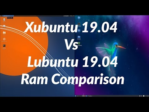 Xubuntu 19.04 Vs Lubuntu 19.04 RAM Comparison