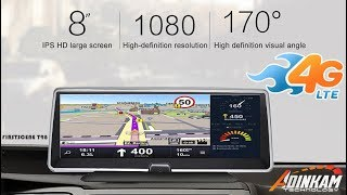 Firstscene T98-4G Dashboard with Dual Cameras Recorder GPS Bluetooth WIFI