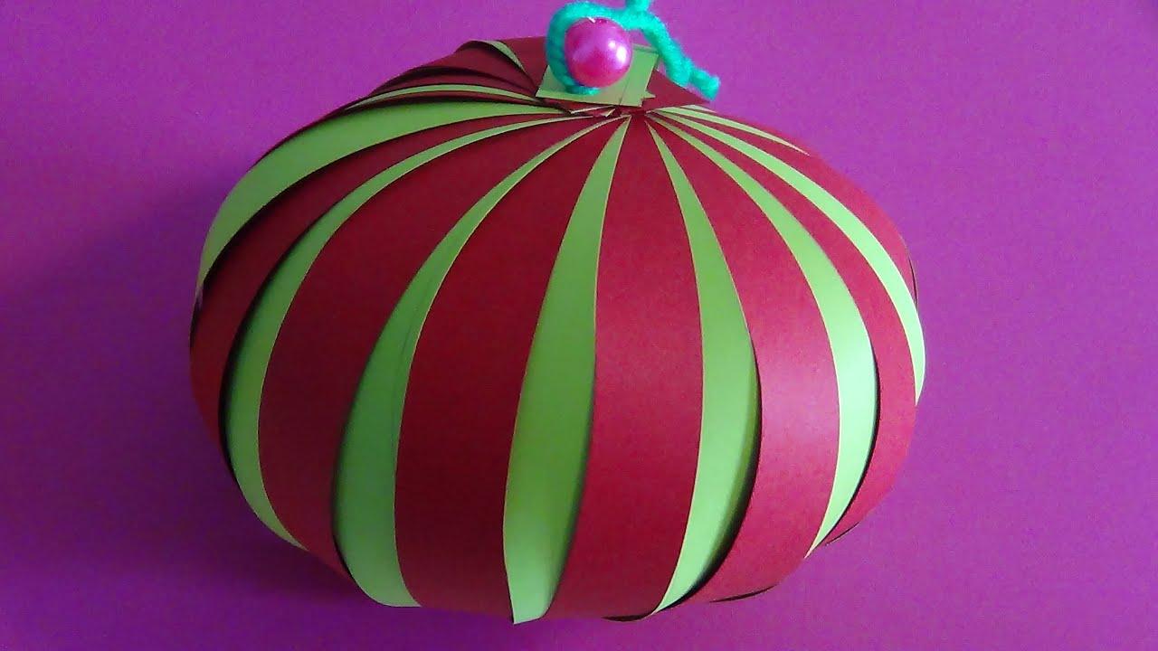 Diy saiba como fazer uma bolas de natal feito em papel for Canapes para o natal