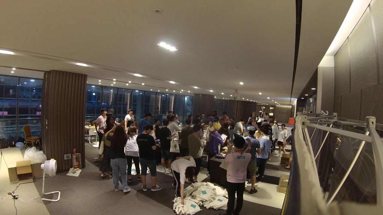 Image from PyCon Korea 2019 SwagBag Stuffing Timelaps