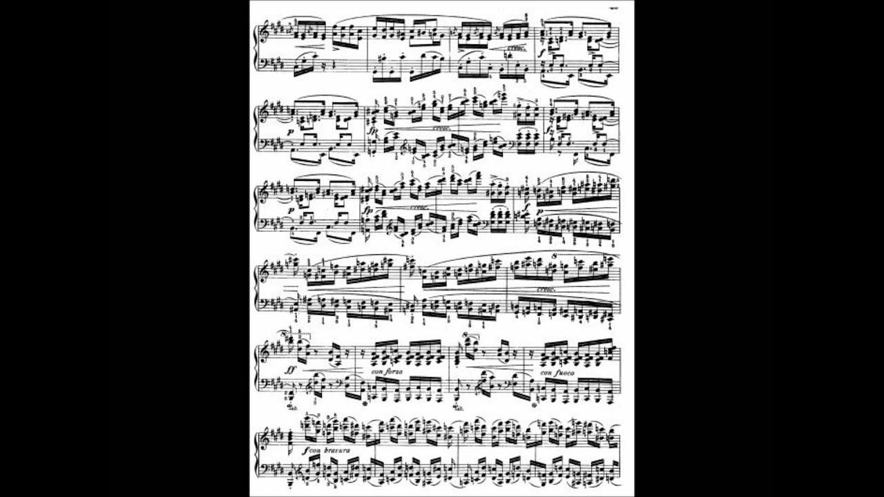 Frédéric Chopin Etude Op 10 No 3 + Sheet music