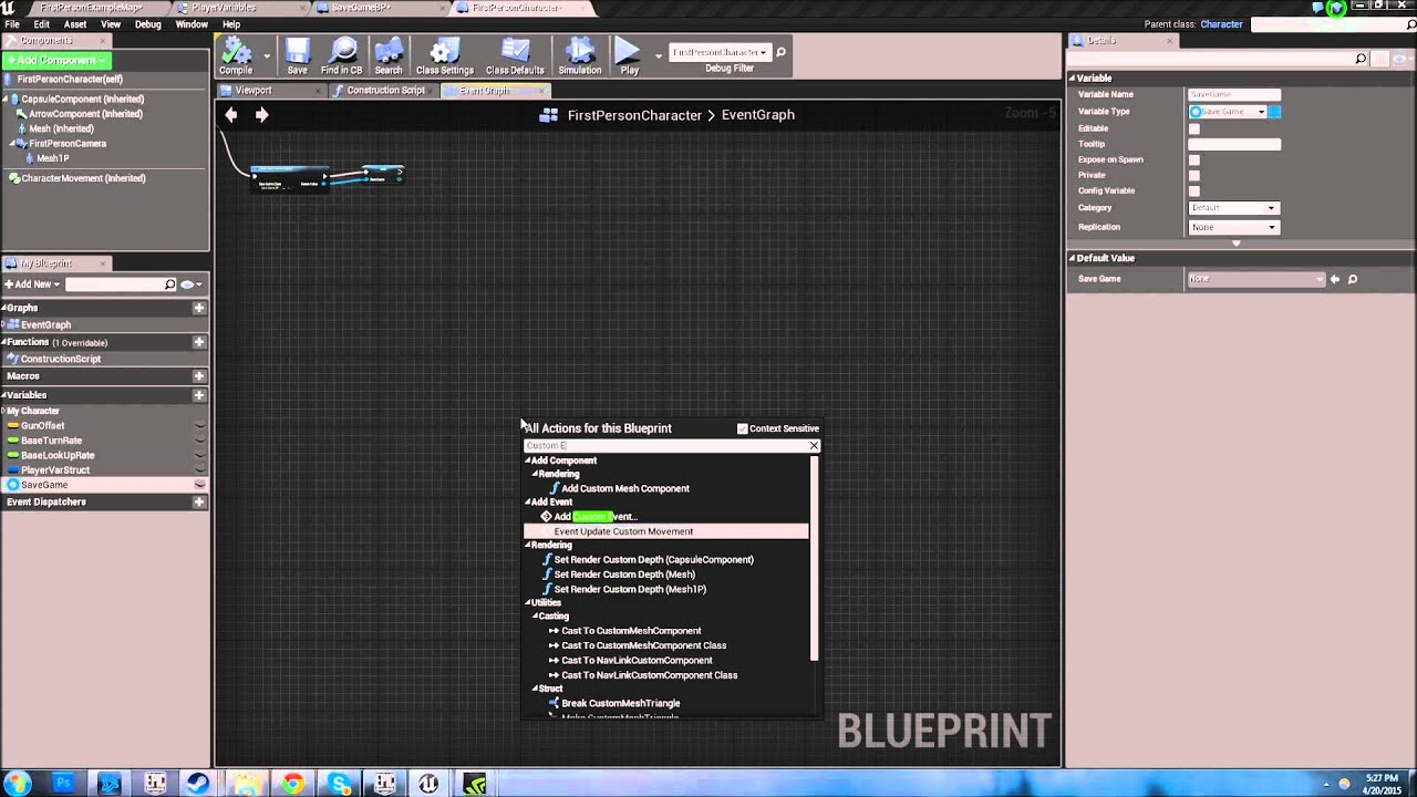 UE4 Save/Load Tutorial with Structures