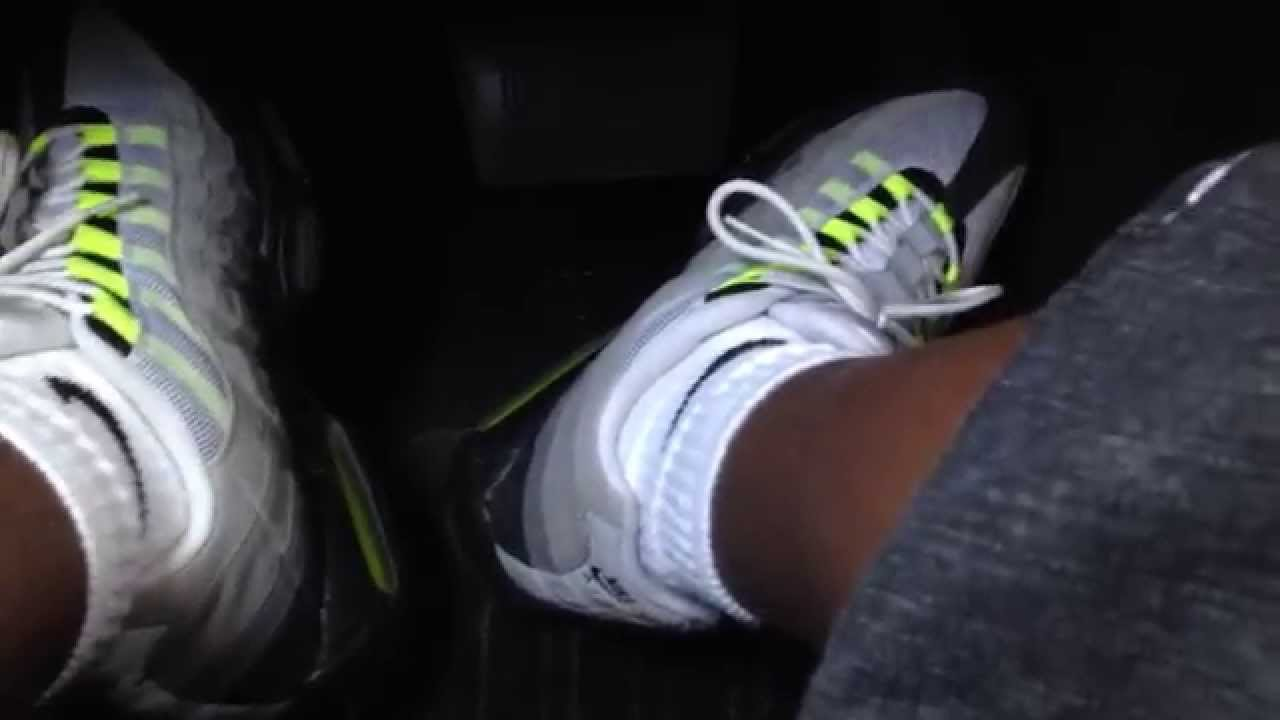4a03e59e00828 Driving in my Nike Air Max 95 (Neon Yellow) - YouTube