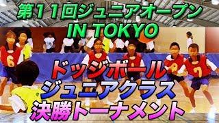 3月21日15時頃からライブ配信!第11回ジュニアオープン IN TOKYO ドッジボールジュニアクラス 決勝トーナメント