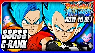 Dragon Ball Fusions 3DS English Guide: How To Get SSGSS Blue Goku & Vegeta! (G Rank Scouting Guide)