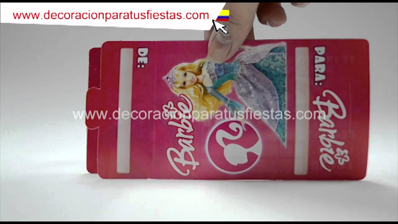Tarjetas De Invitación Para Cumpleaños De Barbie