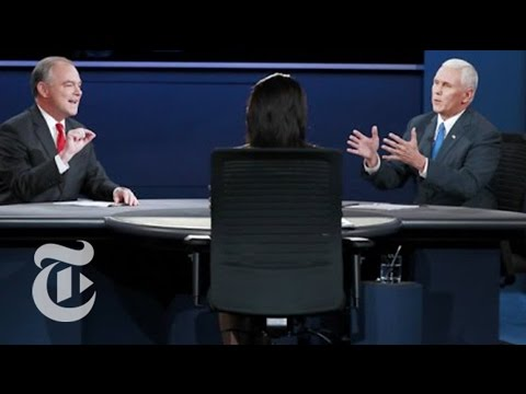 Pence and Kaine in Vice-Presidential Debate | The New York Times