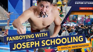 FANBOYING WITH JOSEPH SCHOOLING + Official Merchandise Store Tour | Day 12 Asian Games 2018 Vlog