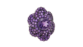 Colleen Lopez 9.82ctw Amethyst Flower Ring thumbnail