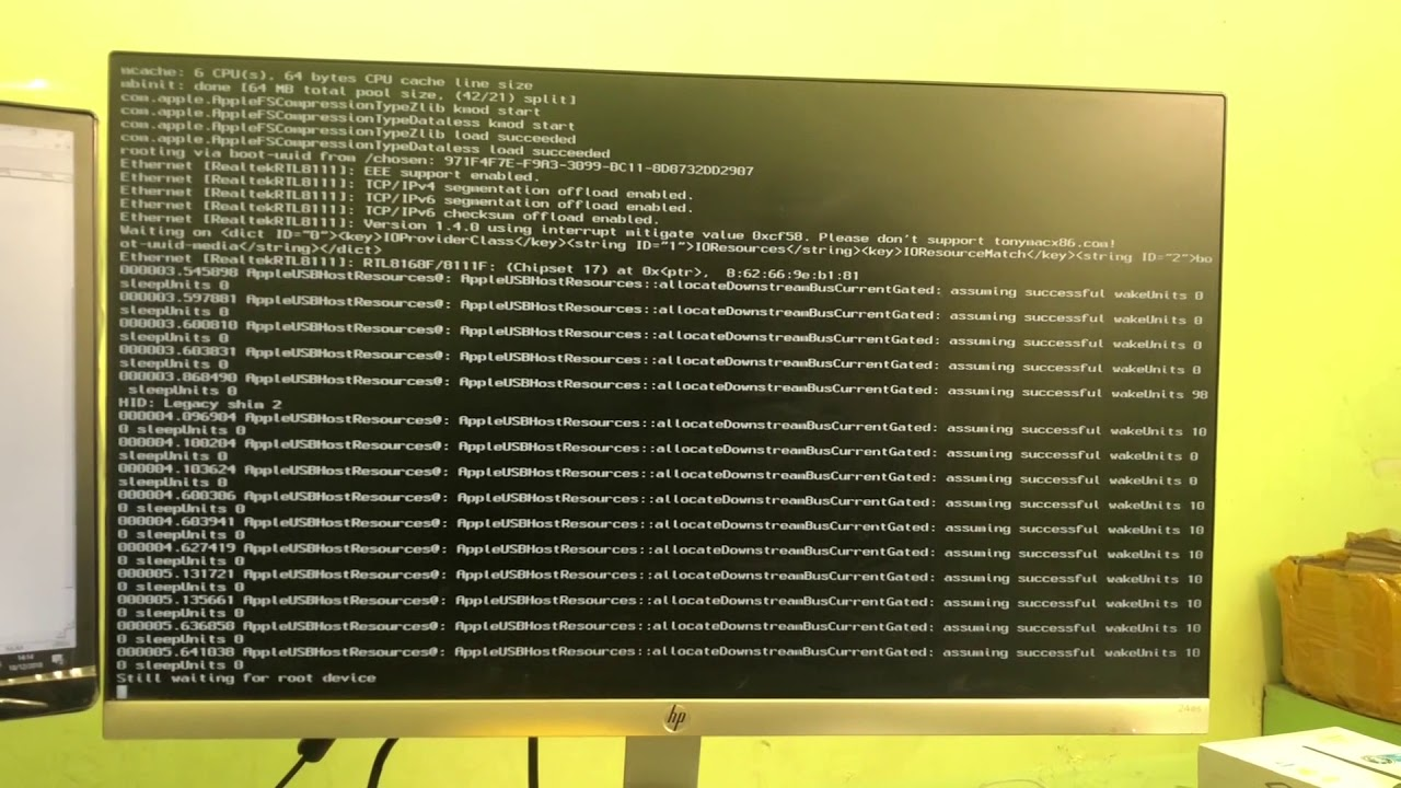 Hackintosh-still-waiting-for-root-device/
