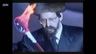 A Young Boyaner Rebbe Lighting The Fire In Meron On Lag Baomer