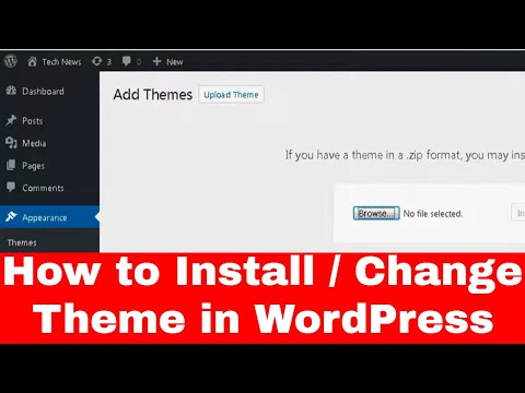 how to change theme in wordpress website in hindi | how to change wordpress theme on live site thumbnail