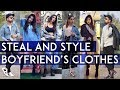 How To Style Boyfriend's Clothes ft. Stuti Shukla | 6 Outfits For A Week | Ronak Baliyane |