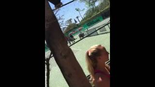 Iranian Tennis Player Attacks Umpire and Chases Off Court (Full Version)