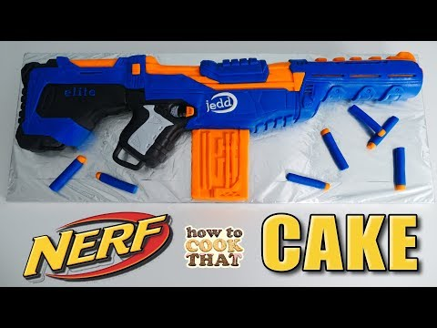 How to make a Nerf Gun cake
