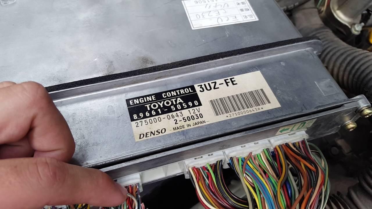 Toyota Wiring Harness Diagram Battery Level Indicator Circuit 2001 Ls430 3uz Fe Immobilizer Bypass Ecu - Youtube