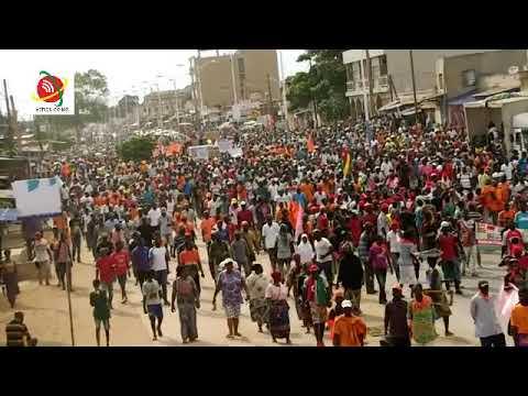 La coalition des 14 partis politiques a bougée les rues de Lomé ce samedi 17 Novembre 2018.
