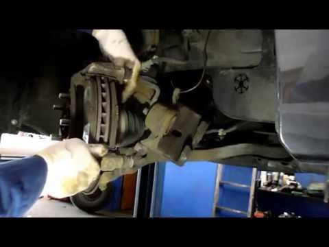 How to replace front brakes and rotors on a Honda Accord
