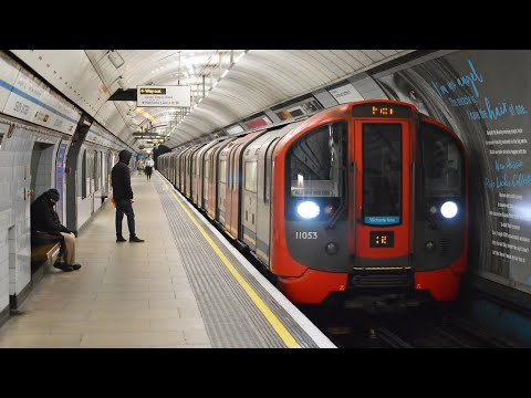 Victoria line:journey between  Euston and Oxford Circus.