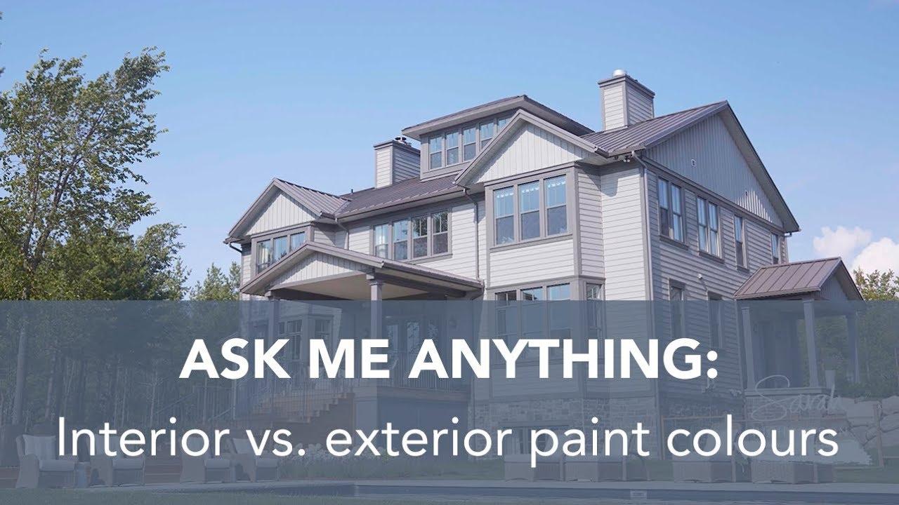 SR Design Life Q+A: Interior vs. exterior paint colours - YouTube