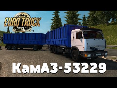 Euro Truck Simulator 2 {1.26}. Обзор мода: КамАЗ-53229. Не едет! (Ссылка в описании)