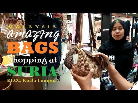 Amazing Bags Shopping At The KLCC Suria Mall In Kuala Lumpur, Malaysia