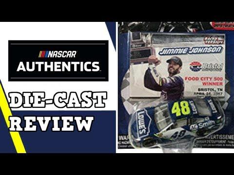"NASCAR Authentics Die-Cast Review - Jimmie Johnson 2017 Lowe's/A.O. Smith ""Bristol Race Win"" 1:64"