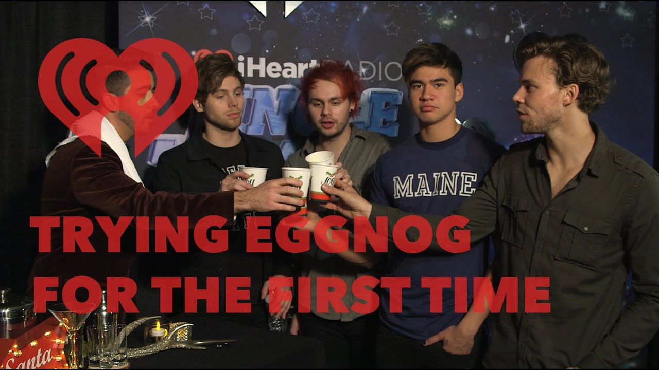5SOS & Others Have Eggnog for the First Time | Exclusive - YouTube
