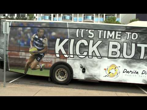 Aboriginal Broadcasting News - Danila Dilba Quit Smoking Bus
