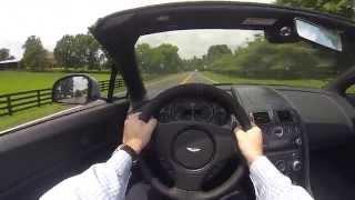 2015 Aston Martin Vantage GT Roadster POV Test Drive