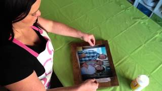 how to mount photos on wood