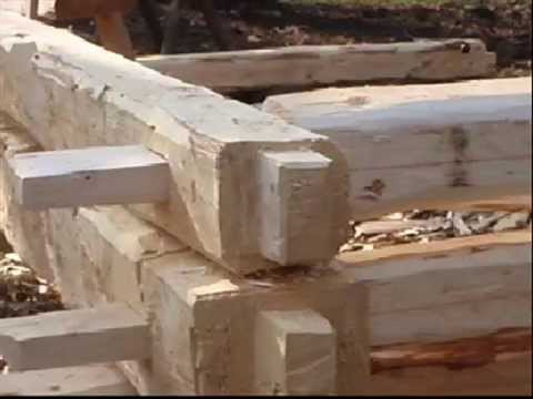 axe made joinery – through mortise and tenon
