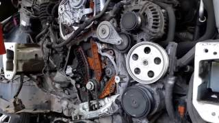 видео Замена цепи ГРМ в Ауди с  2.0  литра tfsi