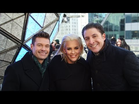 Ryan Seacrest and Jenny McCarthy on Dick Clark's New Year's Rockin' Eve 2017
