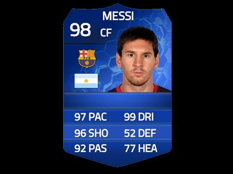 Messi Fifa 14 Card FIFA 14 TOTY ME...