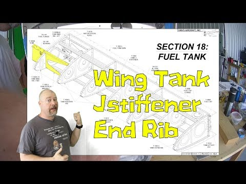 RV-10 Wings - 056 - Proseal tank jstiffener, end rib, and prepare for closing tanks
