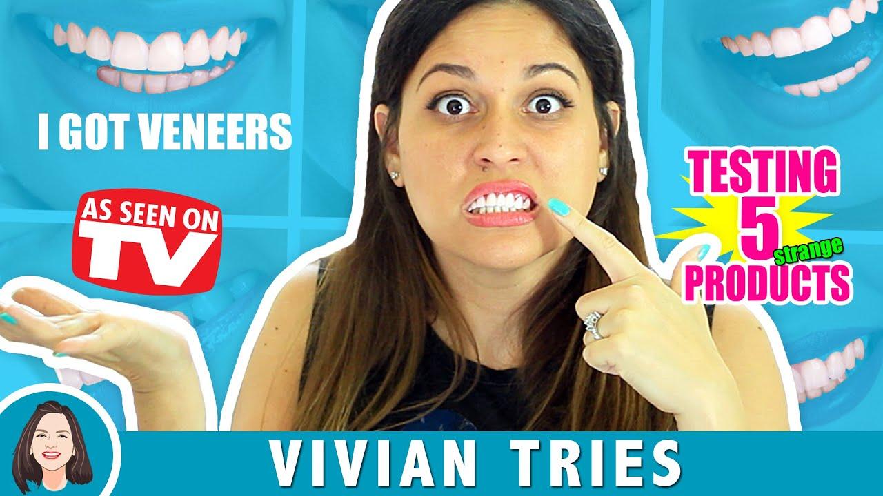 VENEERS | 5 STRANGE AS SEEN ON TV PRODUCTS! | VIVIAN TRIES