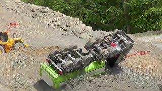Heavy Construction Site accidentCrash on the r/c constructionR/c Volvo loader rescue ACVTION!!!