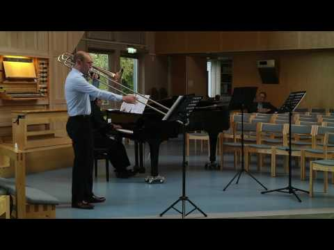 """New Orleans"" for bass trombone & piano, by Eugene Bozza; pub. Leduc"